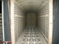 Shuttle kiln, electrically heated, 7,5 m³, used