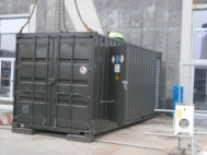 Emergency generator in the container, sound attenuated, 275 kVA, used