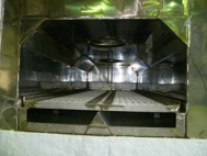 Conveyor belt continuous furnace plant , used