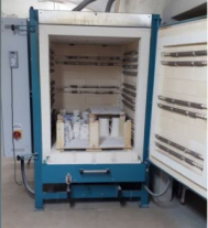 Chamber kiln, electrically heated, 1000 liter, used