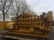 Natural gas power generator CHP, 1278 kVA, used